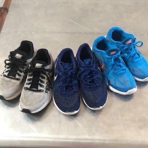 3 pair Nike 5Y Zoom Pegasus Fury Evolution 3